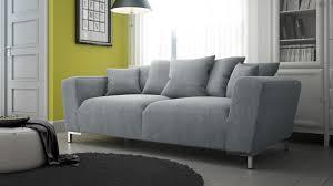 canapé 3 places gris canapé 3 places lisburn en tissu avec coussins canapé mobilier moss