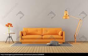stockfoto 22936839 orange sofa in einem modernen