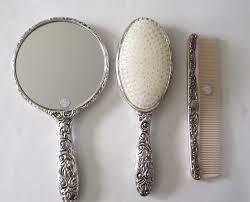 Vintage Vanity Dresser Set by Antique Mirror Brush Comb Vanity Set Home Vanity Decoration