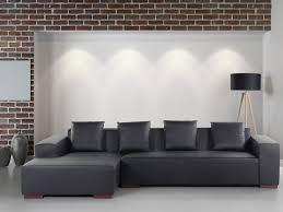 canapé d angle pouf canapé d angle droit canapé avec pouf en cuir noir assise