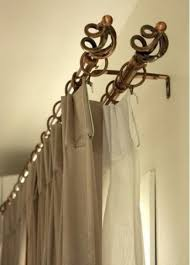 decorative double traverse curtain rod curtain gallery intended