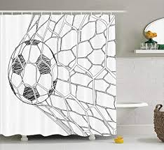 nyngei sport dekor duschvorhang set fuß in netto goaly