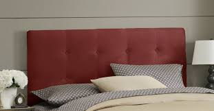 Skyline Velvet Tufted Headboard by Red Tufted Headboard Best 20 Red Headboard Ideas On Pinterest