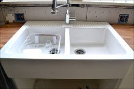 Ikea Domsjo Double Sink Cabinet by Kitchen Rooms Ideas Awesome Stainless Steel Farmhouse Sink Ikea