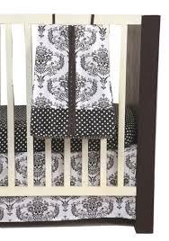 Bacati Crib Bedding by Bacati Classic Damask White Black 10 Pc Crib Set Without Bumper Pad