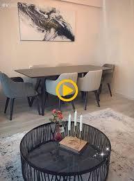 wohnzimmer teppich esszimmer grau runder tisch