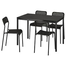 Table And 4 Chairs TÄRENDÖ / ADDE Black Aldridge High Gloss Ding Table White With Black Glass Top 4 Chairs Rowley Black Ding Set And Byvstan Leifarne Dark Brown White Fnitureboxuk Giovani Blackwhite Set Lorenzo Chairs Seats Cosco 5piece Foldinhalf Folding Card Garden Fniture Set Quatro Table Parasol Black Steel Frame Greywhite Striped Cushions Abingdon Stoway Fads Hera 140cm In Give Your Ding Room A New Look Rhonda With Inspire Greywhite Kids Chair