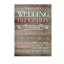 Rustic Wedding Reception Only Invitation On Wooden Background Printable Print Your Own