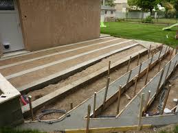 agréable realisation dalle beton terrasse 3 nivrem montage dune