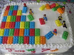 Lego buttercream cake Make the Lego shapes out of fondant Use