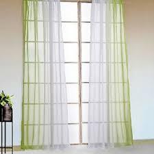 details zu gardinen mit ösen 2 stück vorhänge wohnzimmer schals farbverlauf modern grün