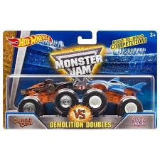 100 Shark Wreak Monster Truck Hot Wheels Jam Demolition Doubles Captains Curse Vs