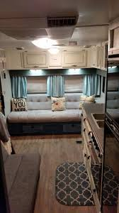 Diy Remove A Camper Jack by Glamper Reupholstered Couch In 5th Wheel Using Dyed Painters