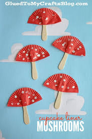 Cupcake Liner Mushrooms Kid Craft