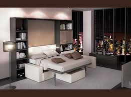 canap avec biblioth que int gr e optimal lits escamotables et solutions gain de place