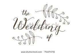 Hand Drawn The Wedding Of Typography Lettering Poster Rustic Invitation Card Banner