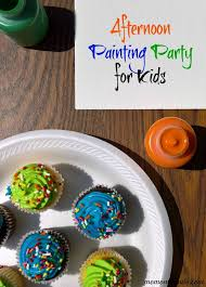 Afternoon Painting Party For Kids That Is Super Easy To Set Up Very Affordable