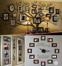 Lovely Idea For Hanging Family Pictures A Tree Of Life Clock And More Ideas