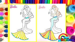 Barbie Mermaid Coloring Book Page Magical For Kids Video