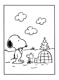 Sweet Looking Snoopy And Woodstock Coloring Pages Free Printable Charlie Brown Christmas For Kids