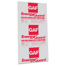Insulating Cathedral Ceiling With Foam Board by Gaf 0 5 In X 4 Ft X 8 Ft Energyguard Polyisocyanurate