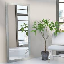Wayfair Decorative Wall Mirrors by Wade Logan Rectangle Silver Framed Wall Mirror U0026 Reviews Wayfair