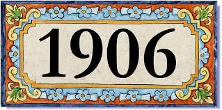 house number address tile spanish design custom sign plaque