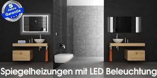 infrarot spiegelheizungen mit beleuchtung led licht