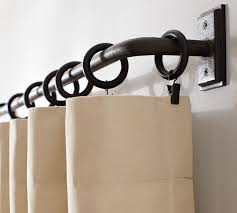 Restoration Hardware Curtain Rod Rings by Cafe Curtain Rods Homesfeed With Regard To Curtain Rod Rings For