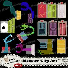 Monsters Clip Art is inspired by Monsters Inc Pack es with 14