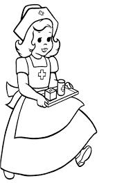 Careful Nurse Coloring Pages