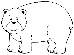Free Animals Bear Printable Coloring Pages For Preschool