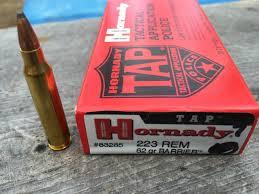 223 Remington 62gr Barrier Hornady TAP Velocity Test