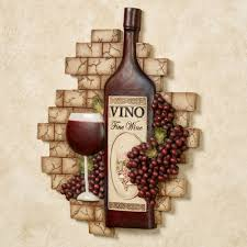 Wine Bottle Cork Holder Wall Decor by Grapes And Wine Home Decor Touch Of Class