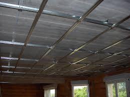 rail pour plafond suspendu isolation idées