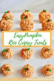 Easy Pumpkin Desserts by Lovelysilvia Cute U0026 Easy Pumpkin Rice Crispy Treats Lovely Silvia