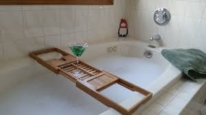 bathroom bathtub caddy with reading rack bathtub corner shelf