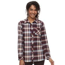 sonoma goods for life essential plaid flannel shirt