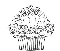 Free Coloring Pages Of Birthday Cupcakes