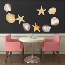 Wall Mural Decals Beach by Seashells Wall Mural Decals Beach Wall Decal Murals Primedecals