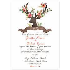 Bohemian Rustic Deer Flower Wedding Invitations EWI414 3