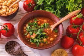 cuisine juive alg駻ienne soupe harira avec des figues nourriture de ramadan cuisine juive