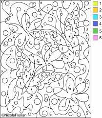 Printable Color By Number Coloring Pages Best Printables