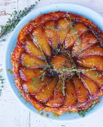 tarte tatin mit birne ingwer und thymian food and travel