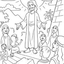 1000 Images About Coloriages Bible LDM On Coloring Page Of Jesus Teaching