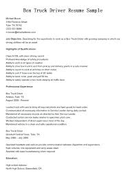 Sample Resumes For Truck Drivers Resume Samples Dump Driver Examples