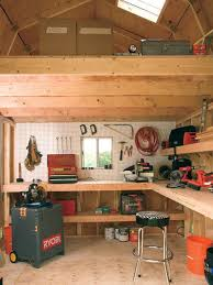 interior of tuff shed barn man cave heaven man cave