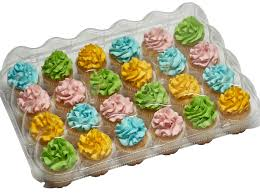 Clear High Dome Cupcake Containers Boxes With Baking Cup Liners Great For Topping 5 24 Slot Each Plus White Standard Size Cups
