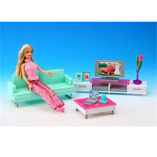 Barbie Living Room Playset by Miniature Leisure Living Room Furniture Set For Barbie Doll House