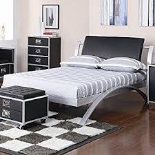 amazon com coaster 300200t contemporary twin bed silver black
